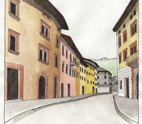 18. Via Cesare Battisti, Contrada todesca, el marcadel