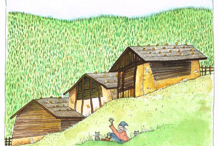 Alzando gli occhi si apre la Val dei Mocheni, Bernstol in lingua locale. La chiamano la valle incantata, lì ci abita la mia amica Silvia in un vecchio maso del '500 fatto di pietra e legno.