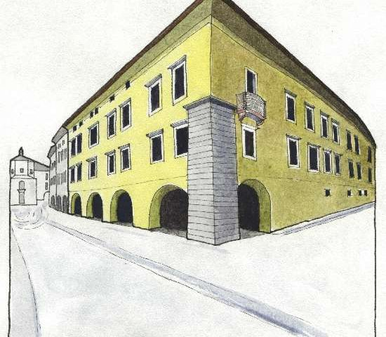 2. Palazzo Crivelli, Sec. XVI, via Maier 7-9