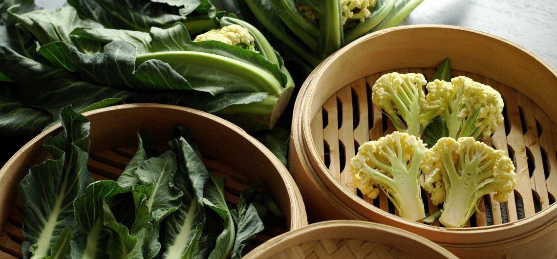 ricetta del broccolo di Santa Massenza al vapore con cestello di bambù