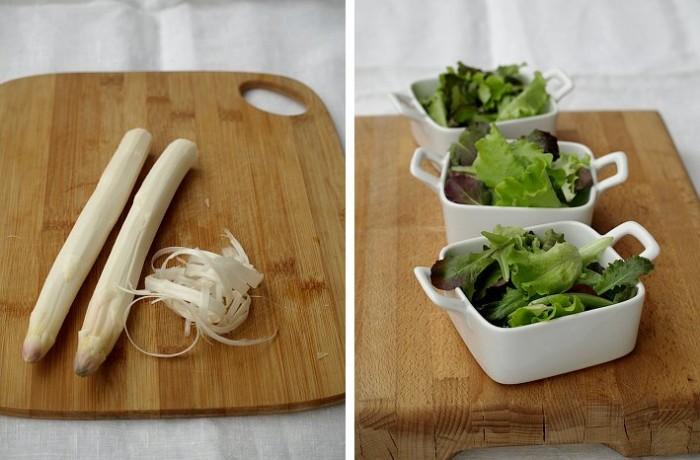 ingrediendi per insalata con asparago bianco di Zambana a crudo