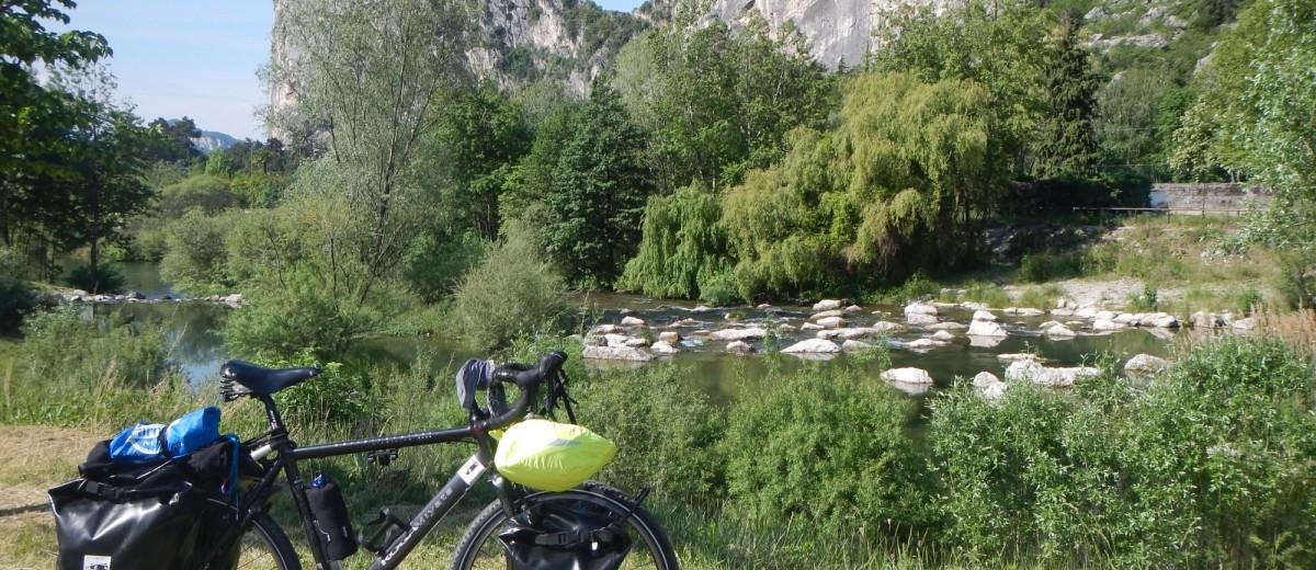 In bici sul Sarca