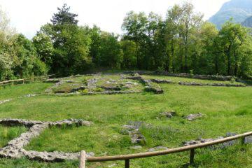 Doss Trento - resti della basilica paleo cristiana
