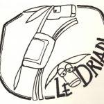 logo asineria le driadi campeggio itinerante con asini